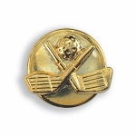 GOLD TONE  GOLF CLUB DESIGN BUTTON COVER