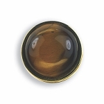 SERRATED BEZELED BUTTON COVER W/ TIGER EYE STONE