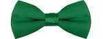 """SEGAL SATIN"" CLIP-ON  KELLY GREEN BOW TIE"