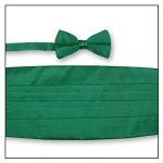 PREMIER SATIN CUMMERBUND & BOW TIE SET - KELLY GREEN