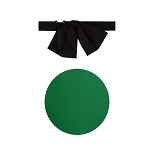 """PREMIER SATIN"" JUMBO KELLY GREEN FLOPPY TIE"