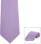 LAVENDER POLY SATIN LONG TIE