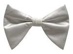 WHITE BUTTERFLY BOW TIE & HANKIE SET