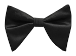 BLACK BUTTERFLY BOW TIE & HANKIE SET