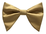 ANTIQUE GOLD BUTTERFLY BOW TIE & HANKIE SET