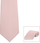 LT PINK POLY SATIN LONG TIE