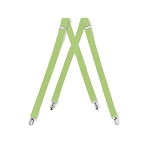 """LUXURY"" CLIP ON LIME SUSPENDERS"