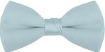 """SEGAL SATIN"" CLIP-ON  LIGHT BLUE BOW TIE"
