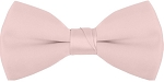 "SEGAL ""POLY-SATIN"" 2"" CLIP-ON LIGHT PINK BOW TIE"