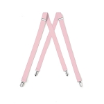 """LUXURY"" CLIP ON LIGHT PINK SUSPENDERS"
