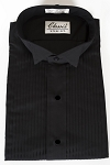 CLASSIX BLACK WINGTIP MEN'S TUXEDO SHIRT