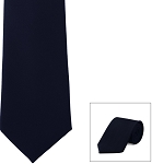 """SECURITY"" POPLIN NAVY BLUE LONG TIE"