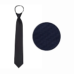 """CARLYLE"" NAVY BLUE WINDSOR TIE"