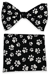PAW PRINT BOW TIE & POCKET SQUARE / HANKIE SET
