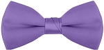 """SEGAL SATIN"" CLIP-ON PURPLE BOW TIE"