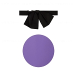 """PREMIER SATIN"" JUMBO PURPLE FLOPPY TIE"