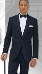 """INTRIGUE"" SHAWL MEN'S BLACK TUXEDO JACKET"
