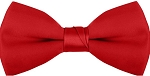 """SEGAL SATIN"" CLIP-ON RED BOW TIE"