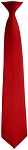 SCARLET RED POPLIN SECURITY CLIP-ON LONG TIE
