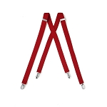 """LUXURY"" CLIP ON RED SUSPENDERS"
