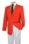 VSA RED 3 BUTTON SINGLE BREASTED BLAZER JACKET - CLOSEOUT