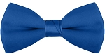 """SEGAL SATIN"" CLIP-ON  ROYAL BLUE BOW TIE"