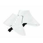 VINYL FORMAL SHOE SPATS - WHITE CLOSEOUT