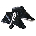 VINYL FORMAL SHOE SPATS - BLACK CLOSEOUT