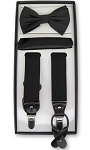 BLACK CONVERTIBLE SUSPENDER SET BY BRAND Q
