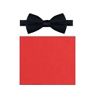 """Q SATINS"" SCARLET RED BOW TIE"