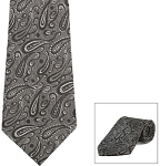 """SEGAL PAISLEY"" SILVER LONG TIE"