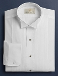 NEIL ALLYN WHITE PINTUCK PLEAT WING COLLAR TUXEDO SHIRT - WOMEN'S