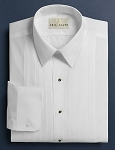 NEIL ALLYN WHITE PINTUCK PLEAT LAY DOWN COLLAR TUXEDO SHIRT - MEN'S