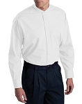 MENS EDWARDS WHITE BAND COLLAR DRESS SHIRT
