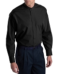 MENS EDWARDS BLACK BAND COLLAR DRESS SHIRT