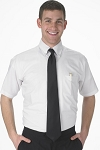 MARTINO WHITE SHORT SLEEVE OXFORD DRESS SHIRT - MEN'S CLOSEOUT