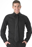 SEGAL MEN'S BLACK LONG SLEEVE DRESS SHIRT