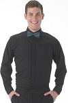 KYLE THOMAS BY SEGAL BLACK FLY FRONT CAFE SHIRT - MEN'S