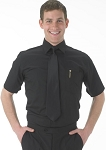 SEGAL MEN'S BLACK SHORT SLEEVE DRESS SHIRT