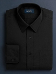 NEIL ALLYN BLACK LONG SLEEVE DRESS SHIRT - MEN'S