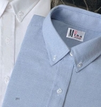 MINA LIGHT BLUE SHORT SLEEVE OXFORD DRESS SHIRT - WOMEN'S CLOSEOUT