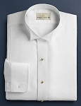 NEIL ALLYN WHITE CLASSIC PIQUE WING COLLAR TUXEDO SHIRT - MEN'S