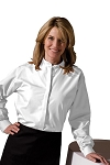EDWARDS WHITE BAND COLLAR DRESS SHIRT - WOMEN'S