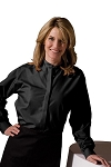 EDWARDS BLACK BAND COLLAR DRESS SHIRT - WOMEN'S