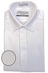 IKE BEHAR WHITE SLIM FIT FLY FRONT DRESS SHIRT - MEN'S