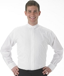 ROBERTO WHITE BAND COLLAR DRESS SHIRT