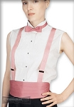 SLEEVELESS WHITE LAYDOWN WOMEN'S TUXEDO SHIRT