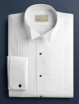 NEIL ALLYN COTTON FITTED WHITE WINGTIP MEN'S TUXEDO SHIRT