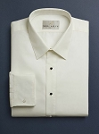 NEIL ALLYN FITTED NO PLEAT IVORY LAYDOWN MEN'S TUXEDO SHIRT - CLOSEOUT