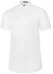 NEIL ALLYN SHORT SLEEVE OXFORD WOMEN'S WHITE DRESS SHIRT